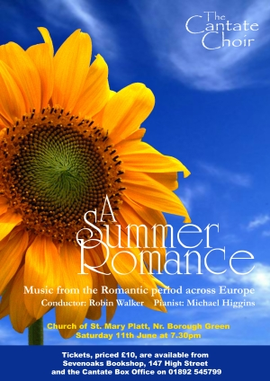 Poster from Cantate Choir's June 2005 concert - A Summer Romance