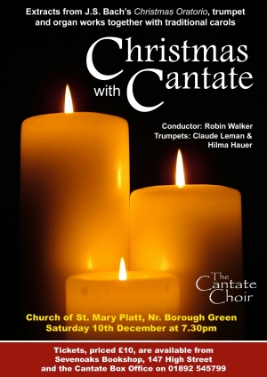 Poster from Cantate Choir's December 2005 concert - Christmas with Cantate