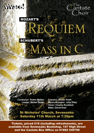 Poster from Cantate Choir's March 2006 concert