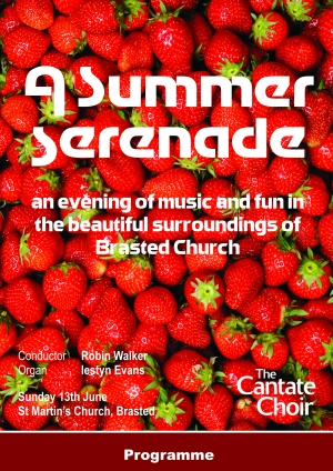 Poster from Cantate Choir's summer concert in June 2010