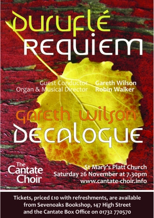 Poster for Cantate Choir's Durufle Requiem concert in November 2011