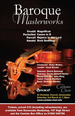 Poster for Cantate Choir's March 2007 Concert - Baroque Masterworks