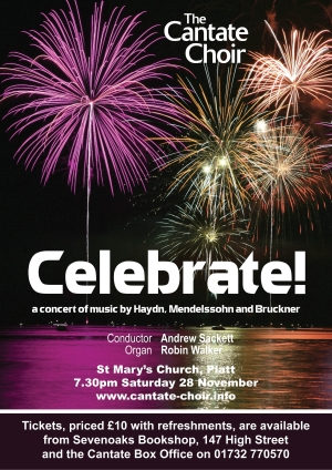Poster for the Cantate Choir's November 2009 Concert - Celebrate!