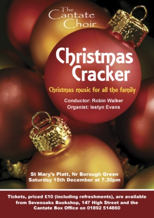 Poster from Cantate Choir's December 2007 concert - Christmas Cracker