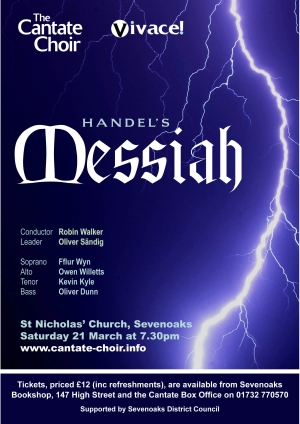 Poster from Cantate Choir's concert in March 2009, Handel's Messiah