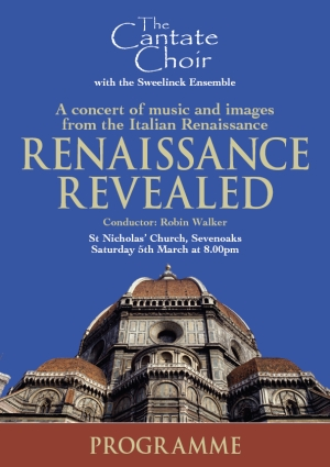 Poster for Cantate Choir's March 2005 concert - Renaissance Revealed