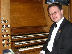 Iestyn Evans (organist), regularly performs with the choir.