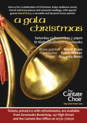 A Gala Christmas concert poster