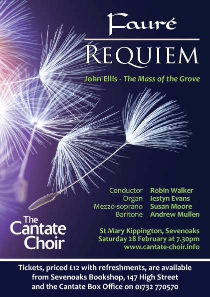 Poster for Faure Requiem concert in February 2015