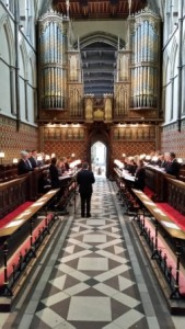 Photo in choir stalls
