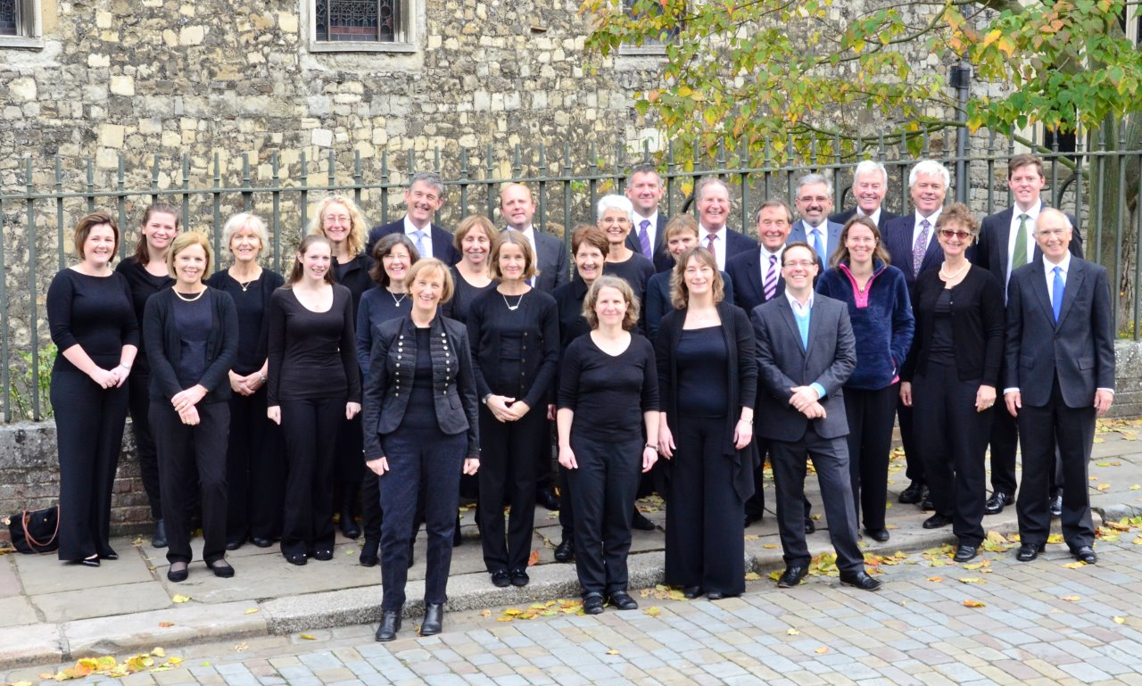 Cantate Choir in between services at Rochester Cathedral, Kent